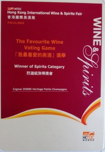 Cognac HERITAGE Petite Champagne, winner of Spirits Category